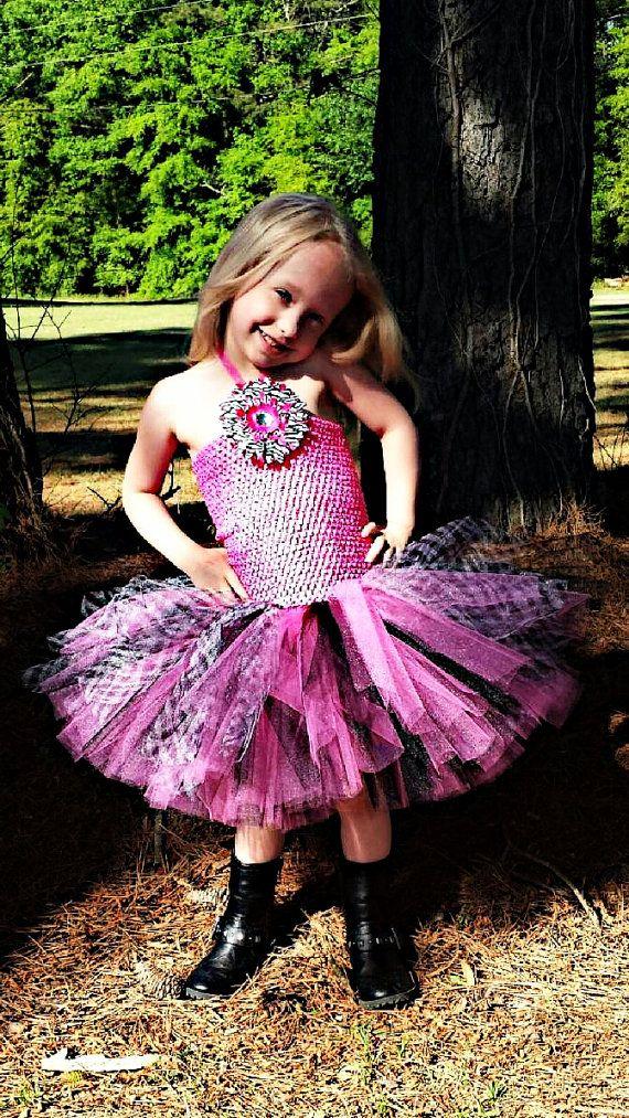 Pink zebra tutu dress by KrystalsTuTuKloset on Etsy, $40.00
