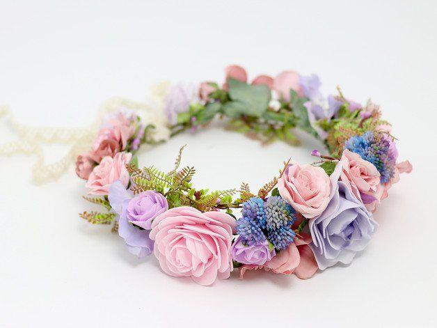 flores para el pelo corona de flores hecho a mano por lolawhite
