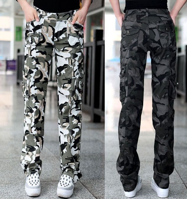 Hot Trend Women'S Overall Camo Pants Leisure Cargo Military Army Pocket Trousers