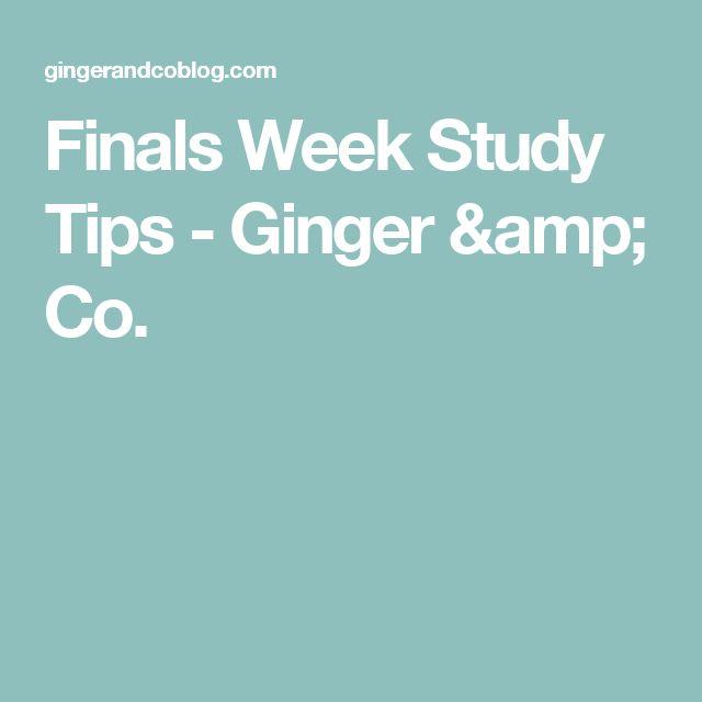Finals Week Study Tips - Ginger & Co.