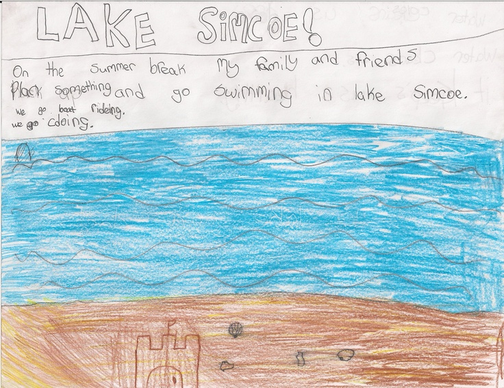 """""""Water cools us down. Water cleans us. It keeps us healthy."""" It also sounds like they have a lot of fun on Lake Simcoe!"""