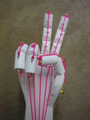 homemade articulated hand