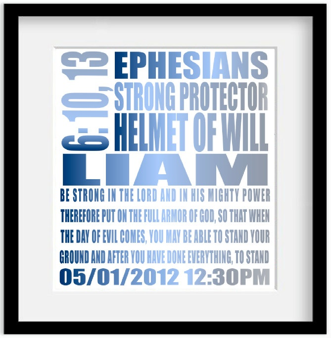 Ephesians 6:10 Be Strong | Personalized bible, Christian ...