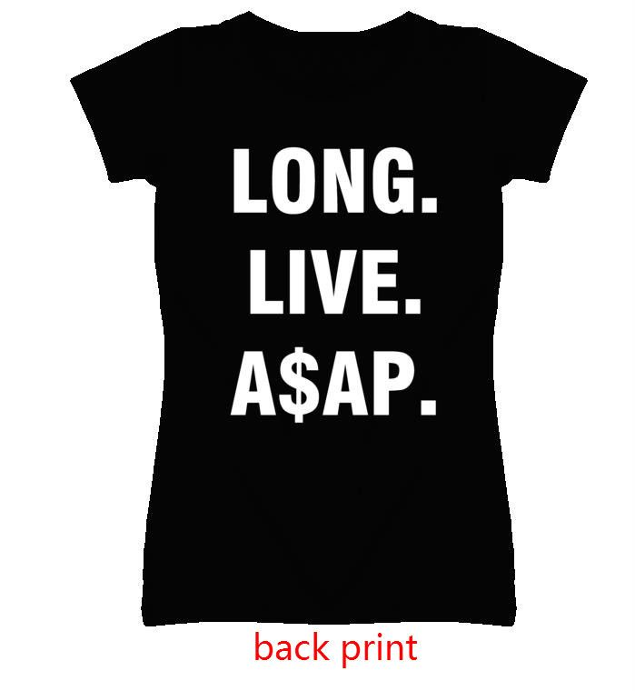 Long Live ASAP back letters print Women tshirts Cotton Casual Funny T Shirt For Lady Top Tee Hipster black Drop Ship Z-298