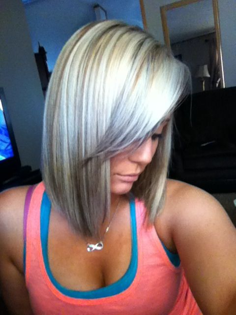 Short bleach blonde hair with grey tips | Hair I Heart! | Pinterest
