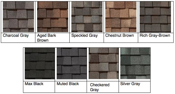 landmark™ tl shingle color overview. | viirt architectural