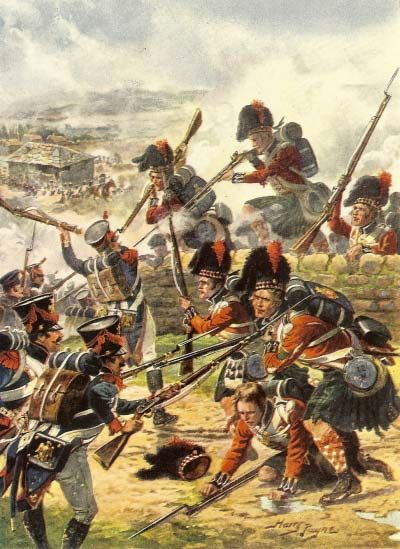 Scotland's best known regiment, The Black Watch, fought alongside the Galicians in the Battle of Corunna, 1808