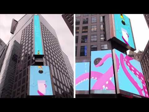 Oreo celebrate its 100th birthday with these incredible interweaving projections in Times Square.