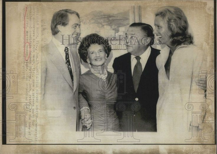1976 Press Photo Sargent Shriver Private Party Mr Mrs Norton Downey Rose Kennedy