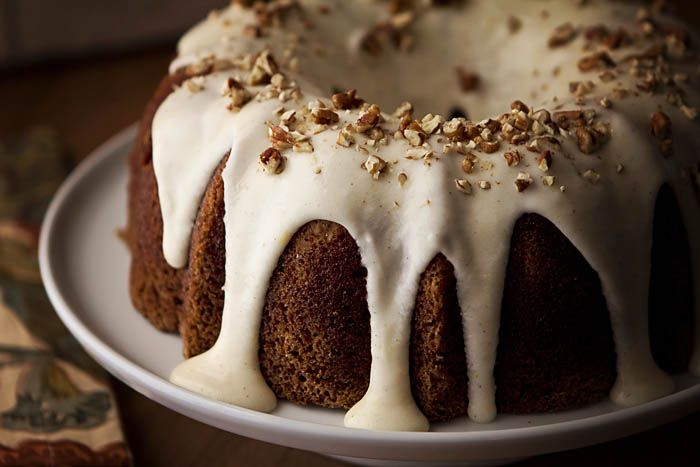 Debra Smith serves up an absolutely gorgeous hummingbird cake with a decadent, lemon flavored mascarpone frosting. Get the recipe on Honest Cooking.