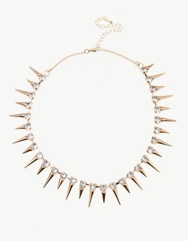 Bershka Malta - Spikes and stones necklace