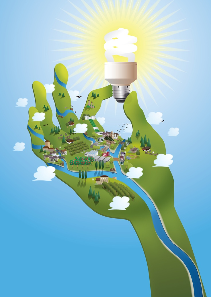 Illustration for a local energy provider