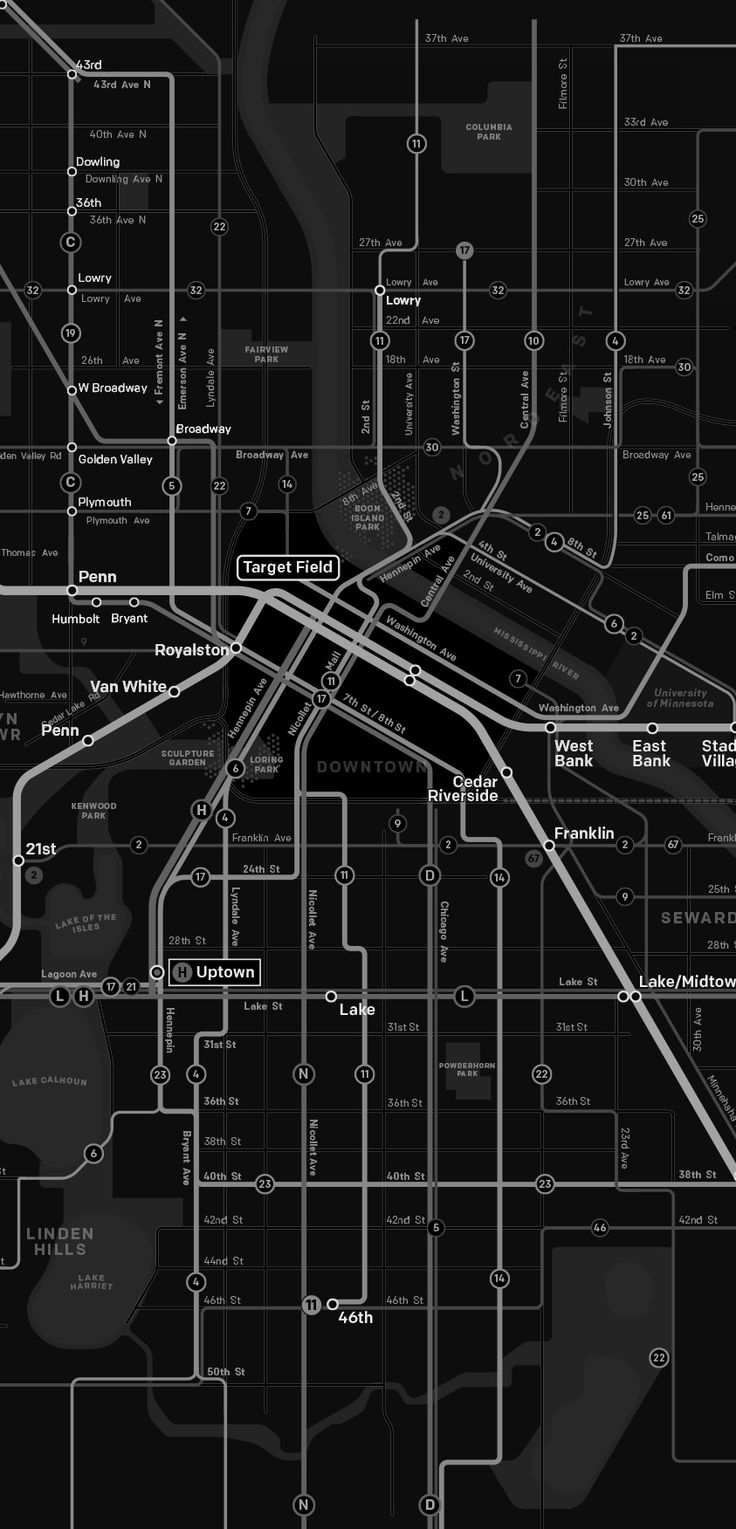 Minneapolis Future transit map