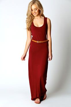 This maxi looks great in the darker colours and has a racer back. Nice with a pair of gladiators.