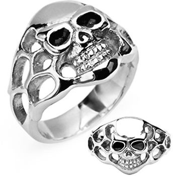 SPIKES 316L Stainless Steel To Hell and Back Skull Ring | Body Candy Body Jewelry