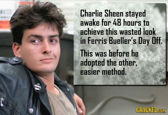 9.) Charlie Sheen, Ferris Bueller's Day Off