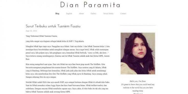 Lagi, Balasan Surat Terbuka untuk Putri Amien Rais soal Jokowi - Kompas.com