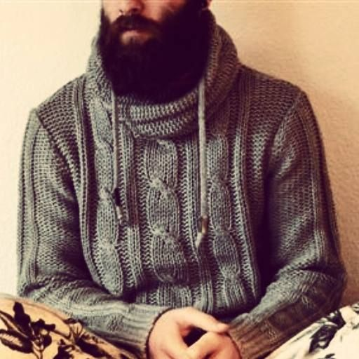 sweater #knit #cozy #beard #menswear #mensfashion