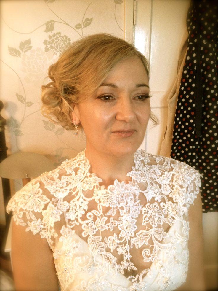 Hair by Nicky McKenzie for lovely Bride Niki www.hairbynickymckenzie.co.uk