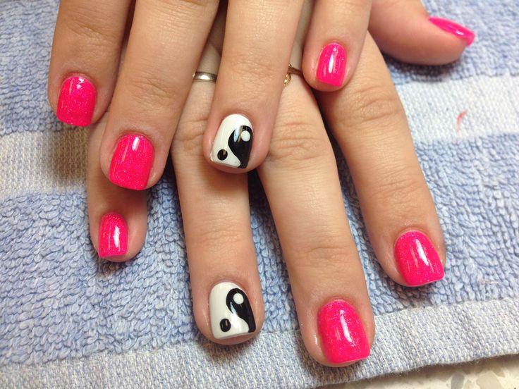 Yin and yang nails by Rhonda Furuseth | Nails, Nail art ...