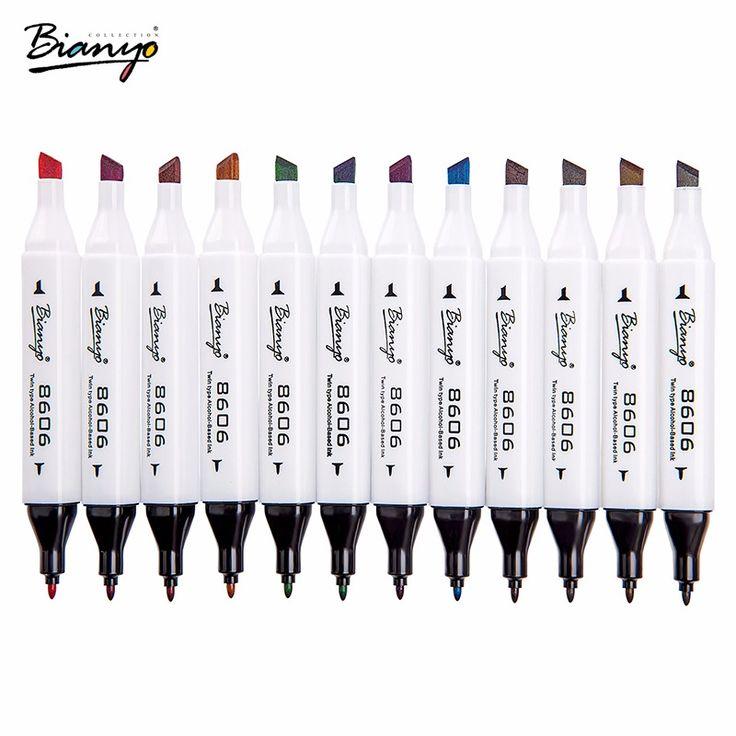 Bianyo Double Head 72 Colors Art Markers Drawing Manga marker School Supplies Sketch Whiteboard Pen Watercolor Markers