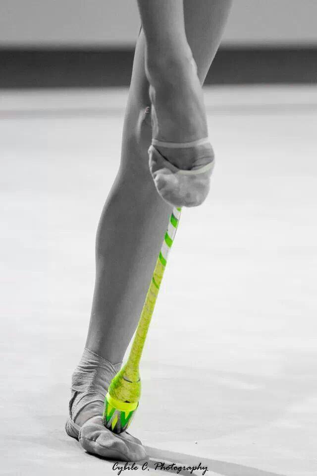 Rhythmic gymnastics Clubs....this looks so cool