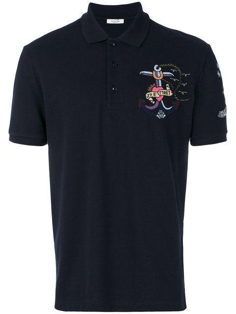 Valentino Tattoo embroidered polo shirt
