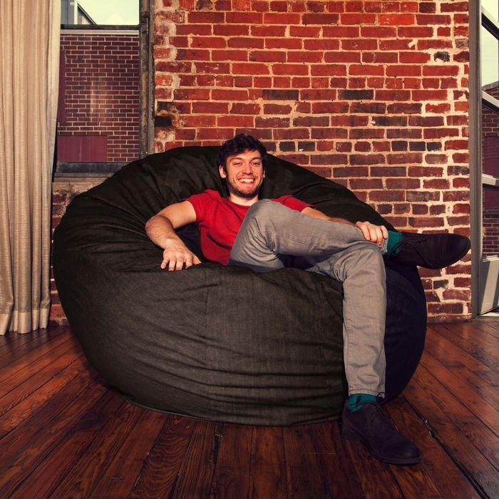 Jaxx Cocoon 6 Ft Foam Bean Bag Chair Denim