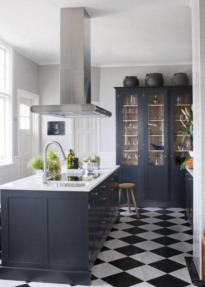 Dark Blue Kitchen Home Decor And Interior Decorating Ideas Bold Floor Deco Design Cabinets Depot White