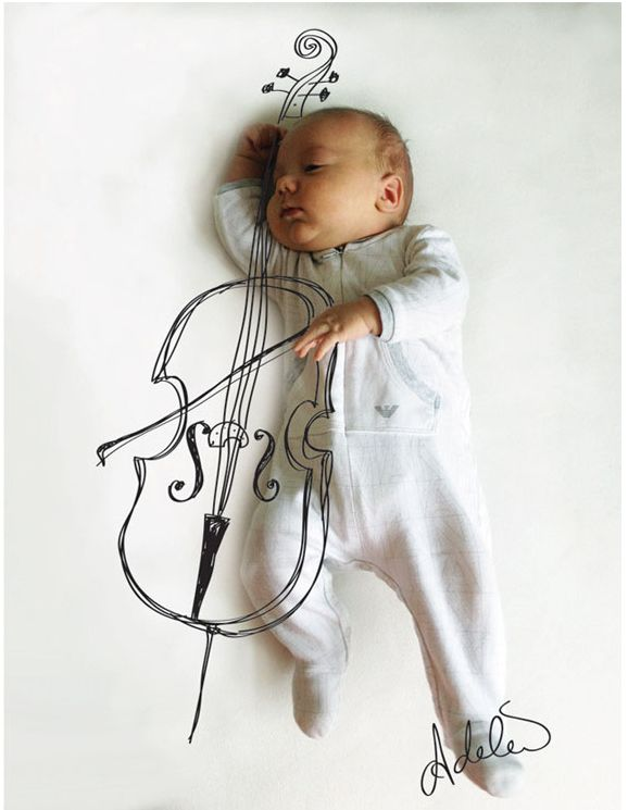 """Adele Emerson sleeping baby photography illustration from the series, """"Vincent and the Night"""""""