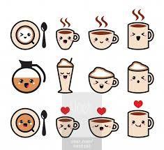 kawaii coffee - بحث Google