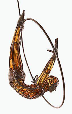 David Bennett's glass sculpture.