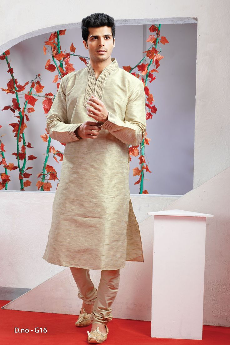 Beige Poly Dupion Readymade Kurta with Churidar  http://www.silk-india.com/en/82-kurta-pajama 45.96$  Now, place your Order now : Email:- raksha@silk-india.com