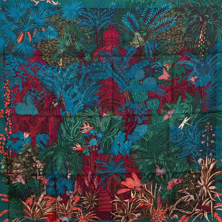 Jardin a Sintra, Annie Faivre, Hermes scarf, carre, knot, knotting, tutorial, hermes carre, Hermes Schal, эрмес, платок, карре, как красиво завязать платок, how to wear a scarf