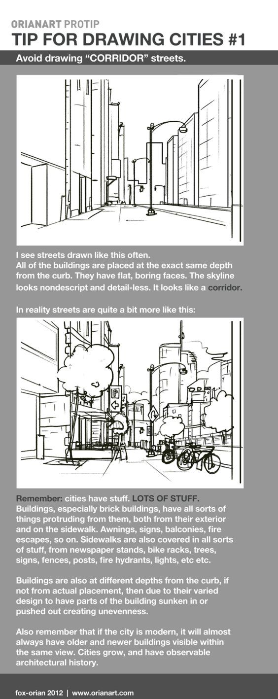 Drawing Cities 1 - Corridor Streets by `fox-orian on deviantART