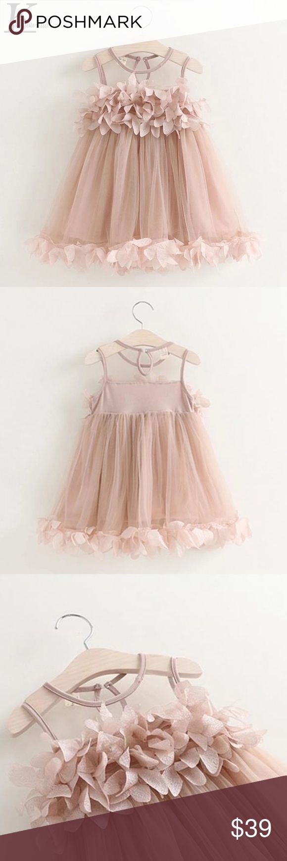 LITTLE DIVA ALERT! ! New Petal tiered dress Just got a bunch of sizes and this is the newest addition to my little diva Collection. Gorgeous little dress for a little diva in training. My daughter has this dress and I received so many compliments on it that I had to share with my fellow poshers. Color is a pink blush color. Happy Poshing! My Little Diva Collection Dresses