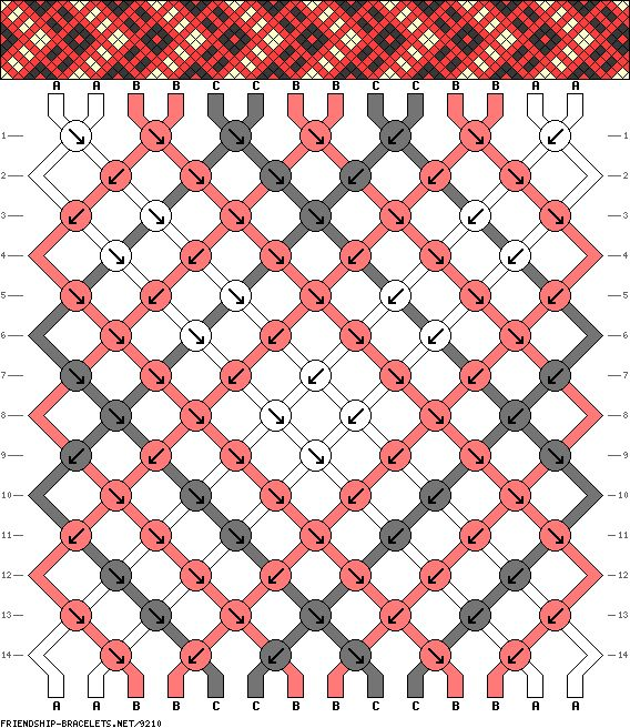 14 strings 14 rows 3 colors