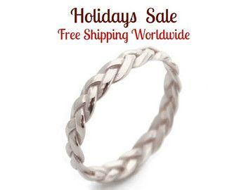 Rose Gold Ring Rose Gold braid ring Braided Ring Braid by MayaMor