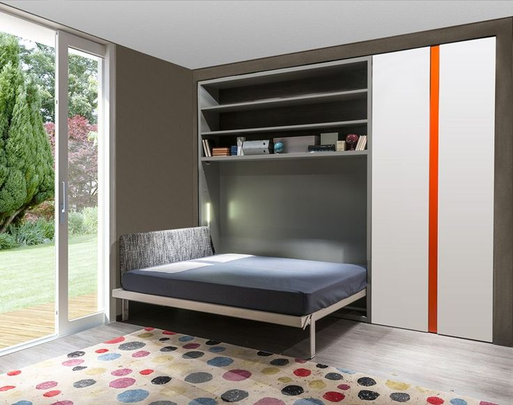 Pull-down double bed with cabinet CIRCE 256 by CLEI
