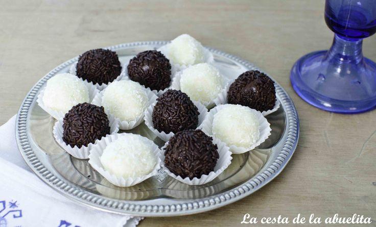 Trufas y Bolitas de Coco. www.lacestadelaabuelita.com