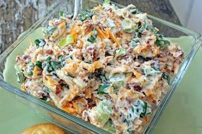 Ingredients  5 green onions chopped 1/2 cup mayonnaise one jar Hormel Real Bacon Bits