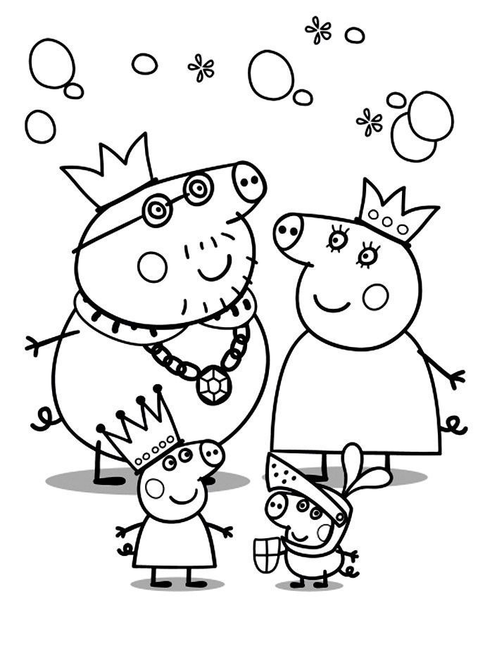 Coloring Pages For Joy Peppa Pig Coloring Pages Peppa Pig Colouring Family Coloring Pages