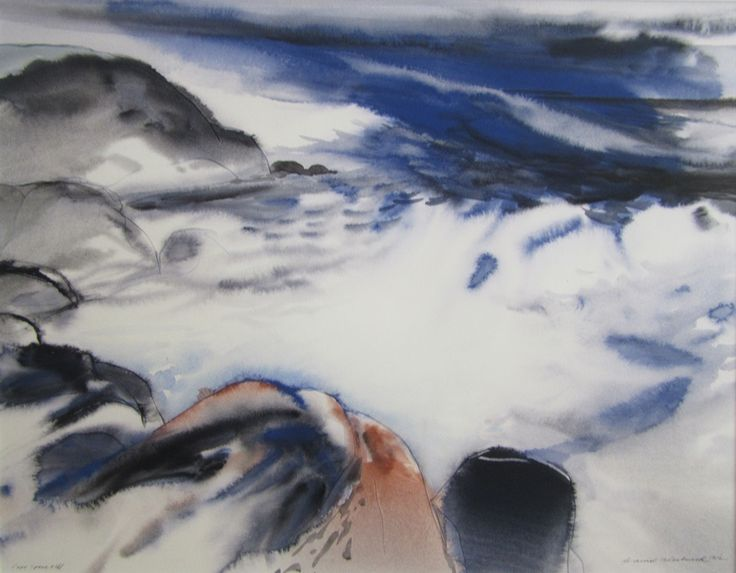 David Blackwood watercolour, Cape Spear, 1972, 19 X 24 inches.
