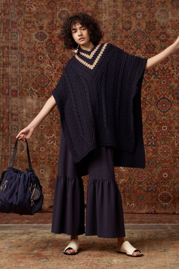 See by Chloé VOGUE, aran and cable linear stitch design