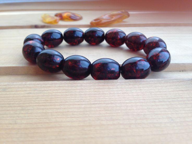 Baltic Amber bracelet dark red