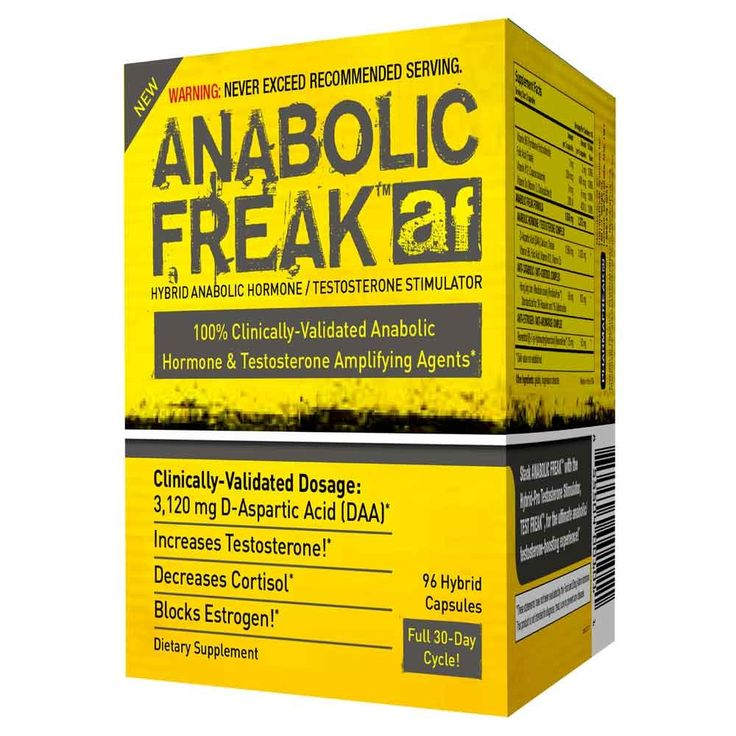 Anabolic Freak formula is made up of clinically-proven dosages of key powerful anabolic agents and is one the strongest D-Aspartic Acid (DAA) testosterone boosters. It supports regulation of the release and synthesis of luteinizing hormone (LH) and testosterone.