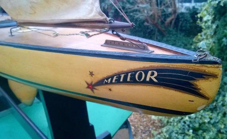 Alexander Bassett Lowke 'Meteor' 127cm - 50 inch pond yacht boat #Alexander