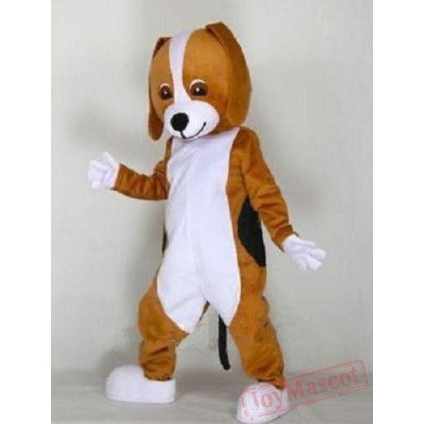 Hot Tan Dog Mascot Mascot Costume Animal Theme Party Cosplay Dress Free Shipping