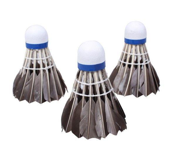 Badminton Ball Goose Feather Cork Shuttlecocks