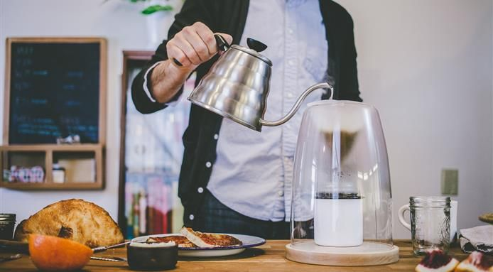 Old School Manual Coffee Maker